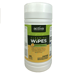 ACTIVA®HARD SURFACE WIPES IN CANISTER (100) Packed 100 wipes per canister