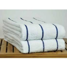 "WEFT STRIPE POOL TOWEL (Packed 24) 34""x68"" Yellow Stripe 15lb"