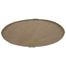 """OVAL LEATHERETTE TRAY 11.5""""x15"""" WHITE"""