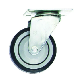 "RB408 #CSTR408/12RIG  4"" RIGID CASTER FITS POLY TRUCK INCLUDE HARDWARE (1) PN:13798..."