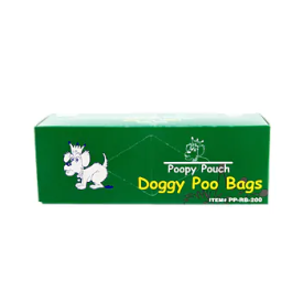 POOPY POUCH UNIVERSAL PET WASTE DISPOSAL BAGS Packed 10 cartons/200 bags per carton